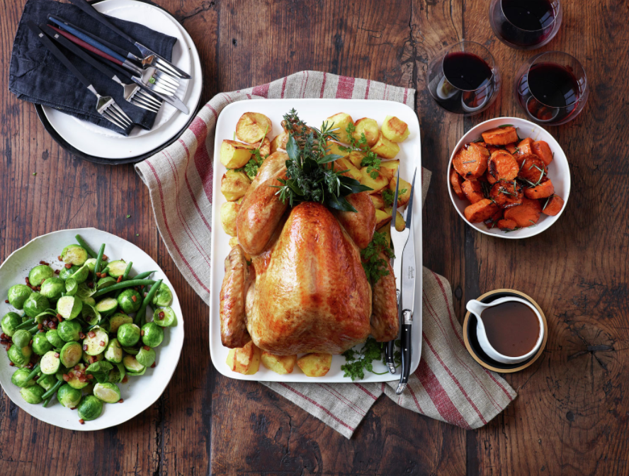Holiday feast with turkey and all the fixings can be made in a multifunction appliance